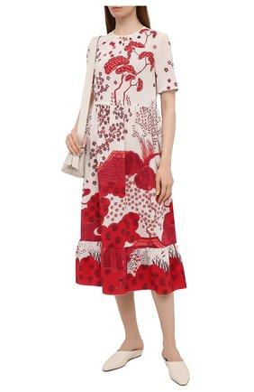 Женское шелковое платье REDVALENTINO красного цвета, арт. VR3VA7M5/5M0 | Фото 2