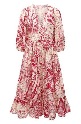 Женское платье REDVALENTINO красного цвета, арт. VR0VAAU0/5SE | Фото 1