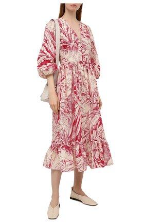 Женское платье REDVALENTINO красного цвета, арт. VR0VAAU0/5SE | Фото 2