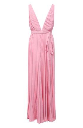 Женское шелковое платье VALENTINO розового цвета, арт. VB3VDBK01MH | Фото 1
