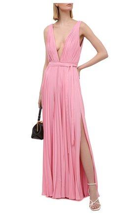 Женское шелковое платье VALENTINO розового цвета, арт. VB3VDBK01MH   Фото 2
