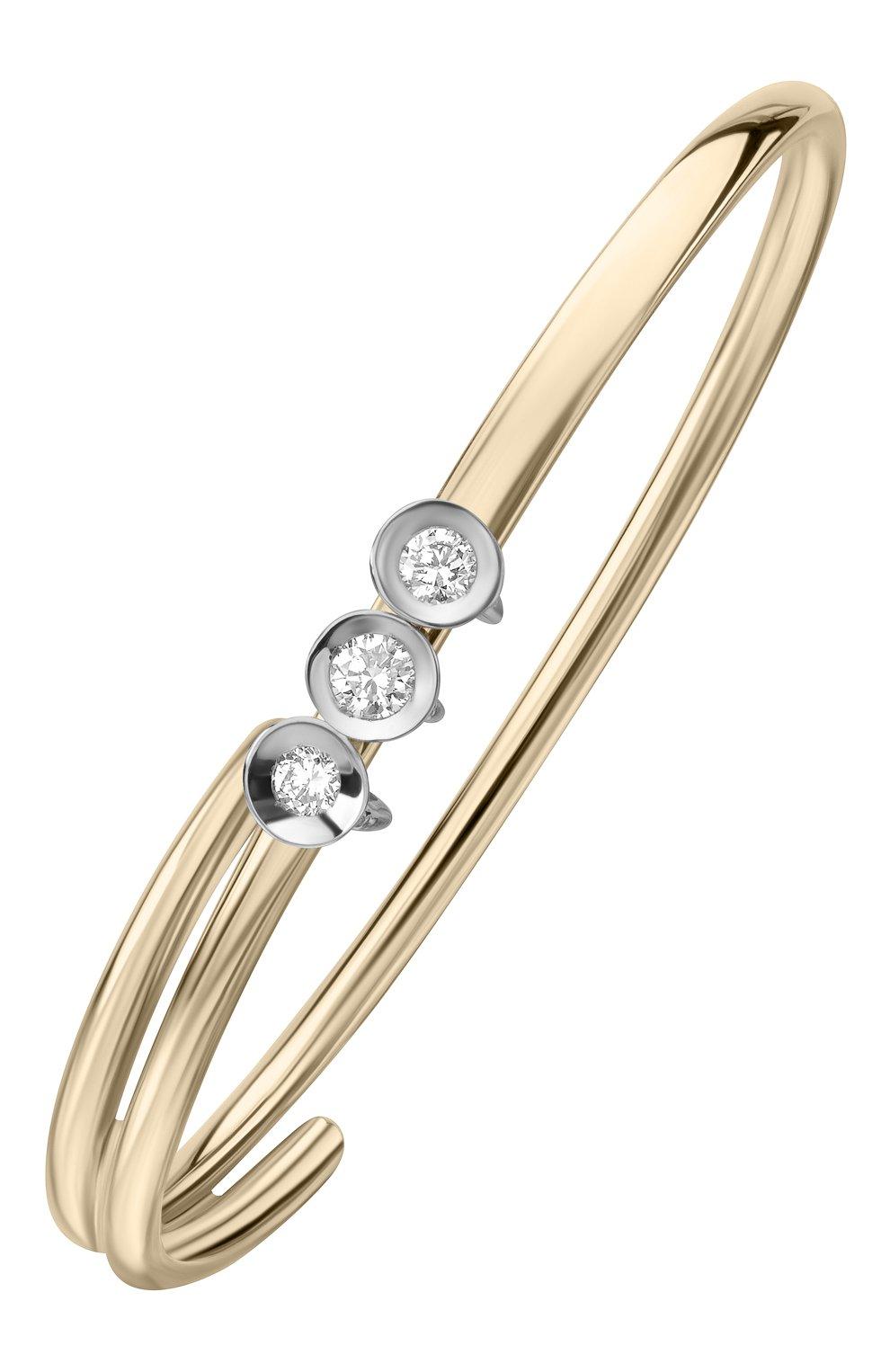 Женские кольцо на два пальца chips MATTIOLI бесцветного цвета, арт. MAN75030R   Фото 1 (Материал сплава: Белое золото, Розовое золото; Драгоценные камни: Бриллианты)