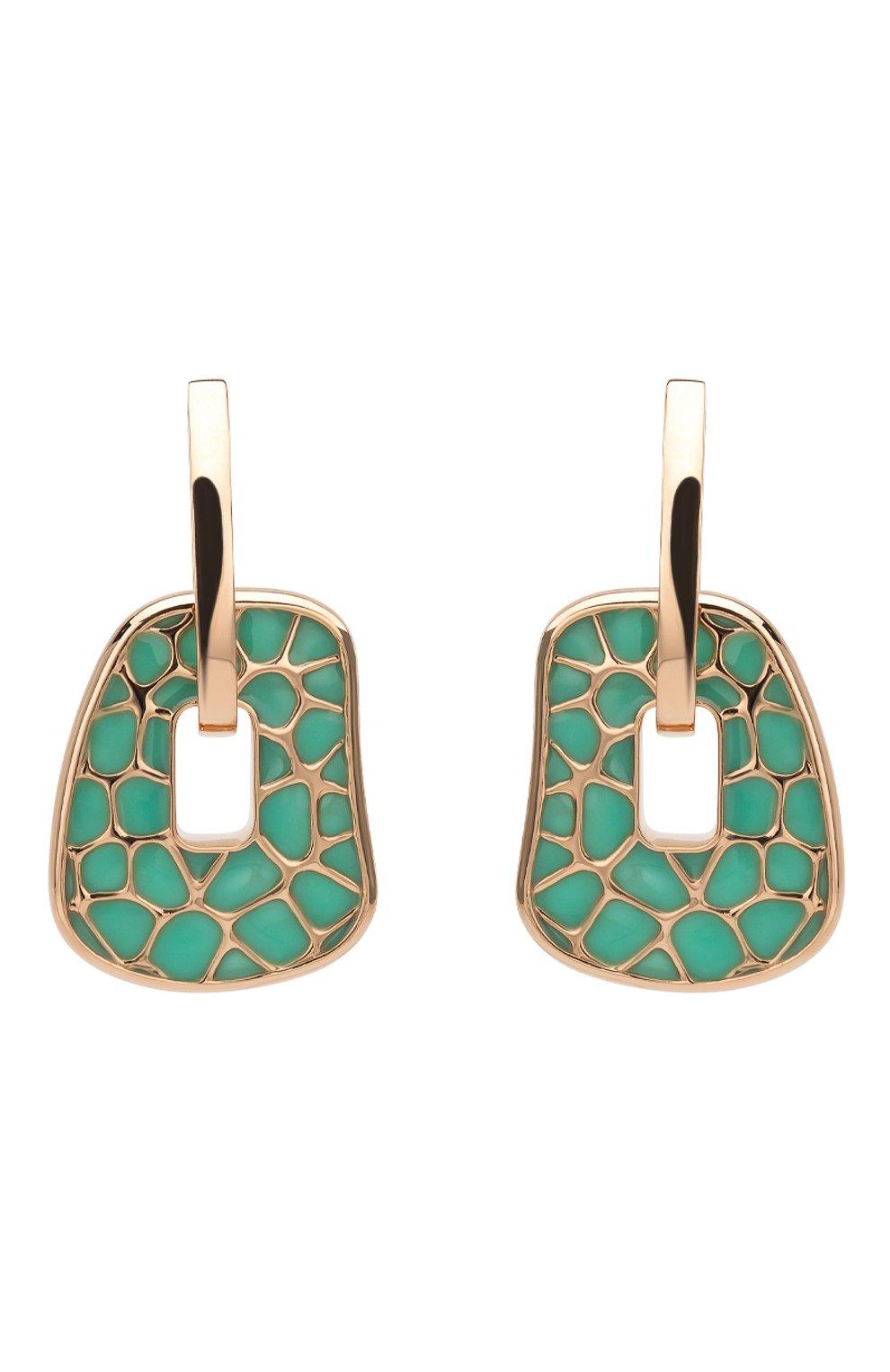 Женские серьги MATTIOLI бесцветного цвета, арт. MOR054R076 | Фото 1 (Драгоценные камни: Другие; Материал сплава: Розовое золото)