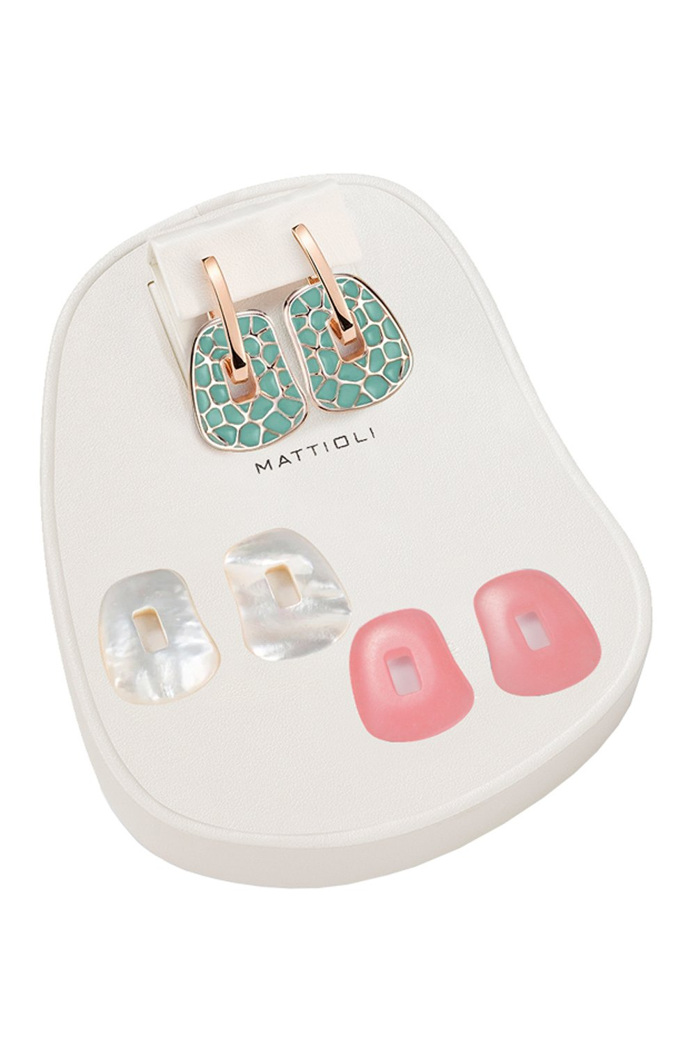 Женские серьги MATTIOLI бесцветного цвета, арт. MOR054R076 | Фото 2 (Драгоценные камни: Другие; Материал сплава: Розовое золото)