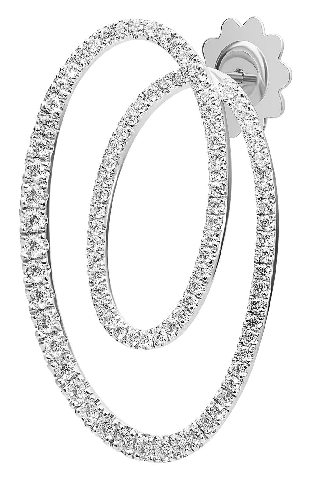 Женские серьги chips MATTIOLI бесцветного цвета, арт. MOR75053BW | Фото 2 (Материал сплава: Белое золото; Драгоценные камни: Бриллианты)