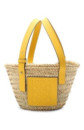 Женская сумка basket small LOEWE желтого цвета, арт. 327.02.S93 | Фото 1
