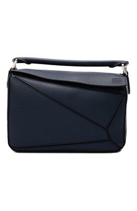 Женская сумка puzzle LOEWE синего цвета, арт. 322.30.S21 | Фото 1