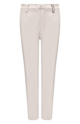Женские брюки BRUNELLO CUCINELLI кремвого цвета, арт. MA080P5398 | Фото 1