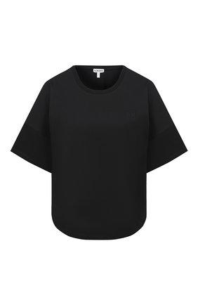 Женская хлопковая футболка LOEWE черного цвета, арт. S359341XA4 | Фото 1