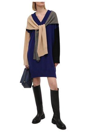 Женское шерстяное платье LOEWE темно-синего цвета, арт. S540Y15K24 | Фото 2