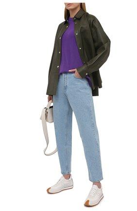 Женский кашемировый джемпер LOEWE фиолетового цвета, арт. S540Y14K49 | Фото 2