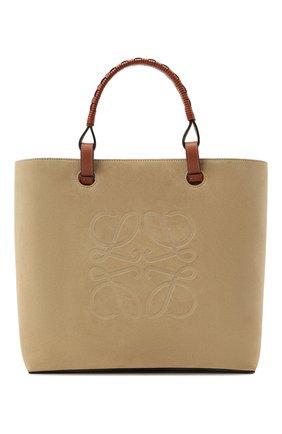 Женский сумка-тоут anagram LOEWE бежевого цвета, арт. A657T23X06   Фото 1