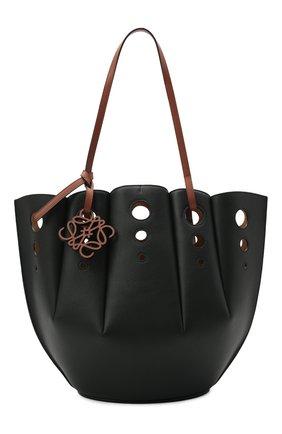 Женский сумка-тоут shell LOEWE черного цвета, арт. A657R52X13   Фото 1