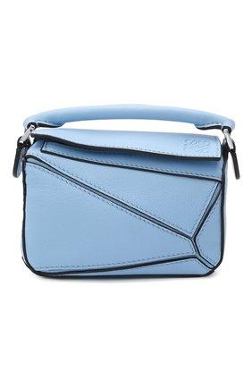 Женская сумка puzzle nano LOEWE голубого цвета, арт. A510U98X01 | Фото 1