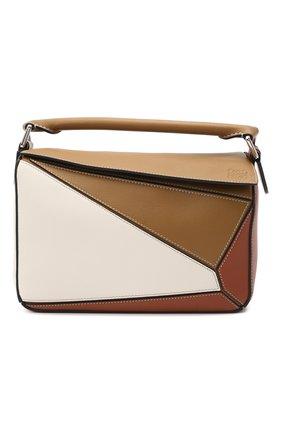 Женская сумка puzzle small LOEWE коричневого цвета, арт. A510S21X55 | Фото 1