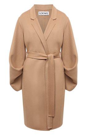 Женское шерстяное пальто LOEWE бежевого цвета, арт. S540Y01W01 | Фото 1