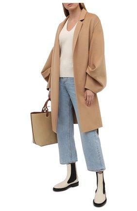Женское шерстяное пальто LOEWE бежевого цвета, арт. S540Y01W01 | Фото 2