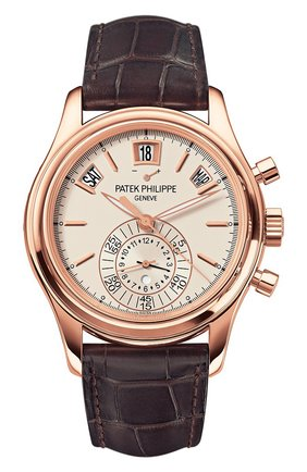 Мужские часы rose gold annual calendar PATEK PHILIPPE белого цвета, арт. 5960 R-011 | Фото 1