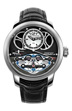 Мужские часы constant escapement GIRARD-PERREGAUX бесцветного цвета, арт. 93505-21-631-BA6E | Фото 1