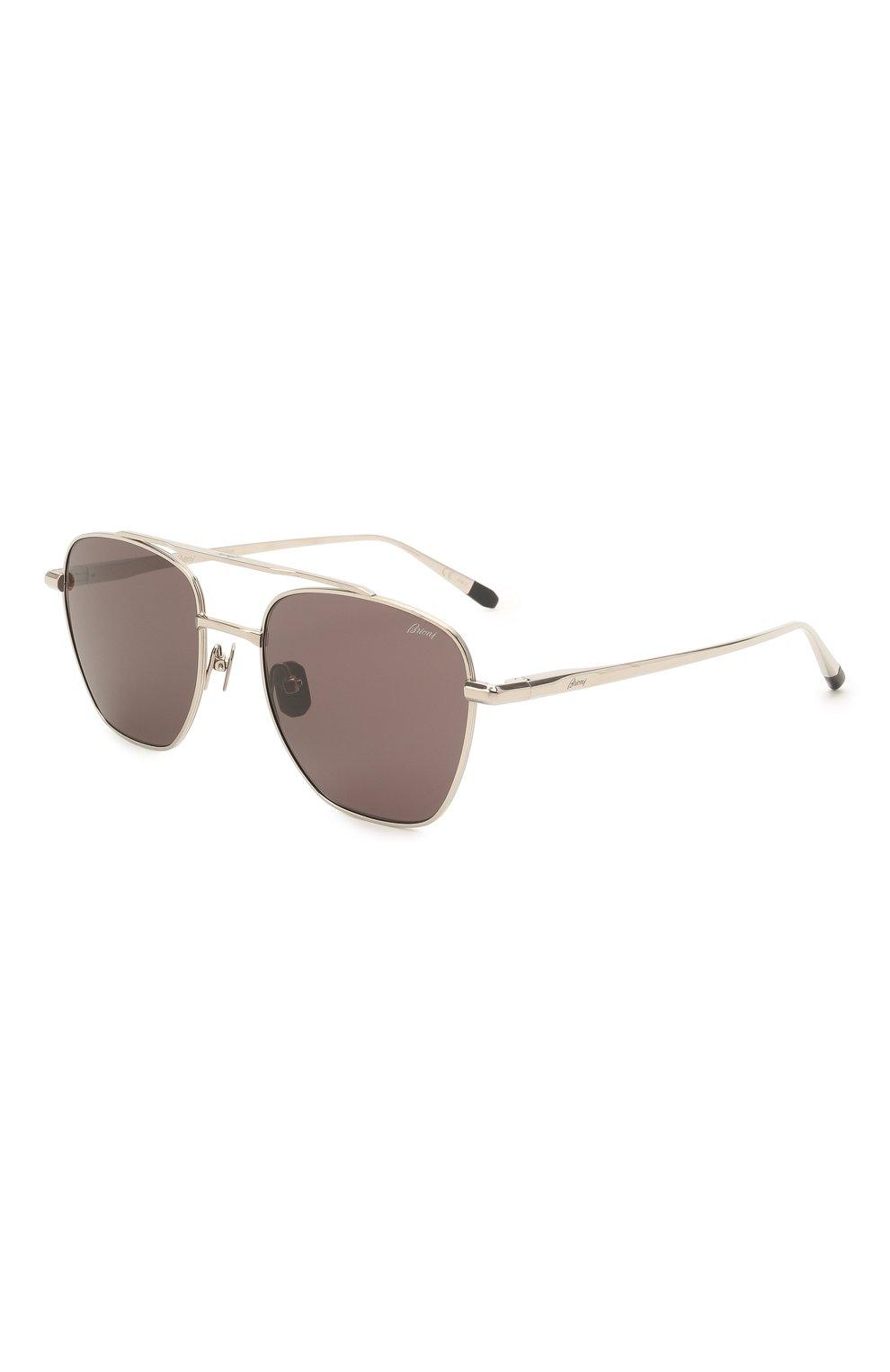 Мужские солнцезащитные очки BRIONI темно-серого цвета, арт. 0DE400/P3ZAF   Фото 1