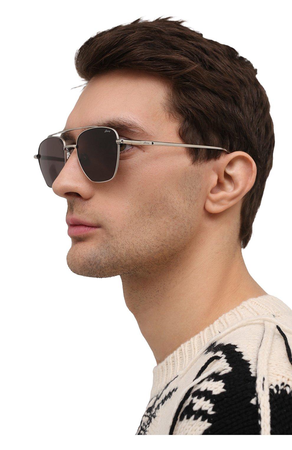 Мужские солнцезащитные очки BRIONI темно-серого цвета, арт. 0DE400/P3ZAF   Фото 2