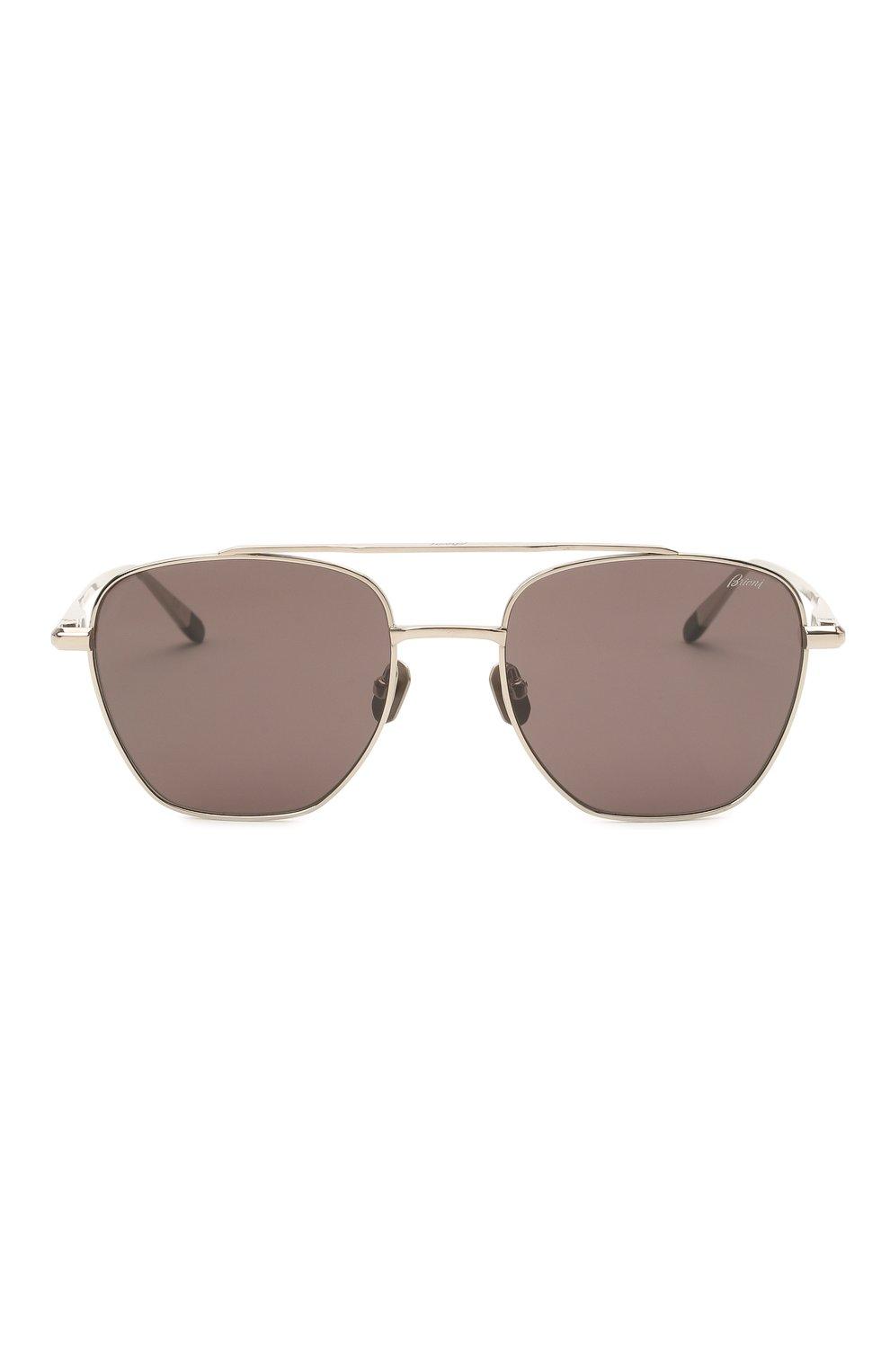 Мужские солнцезащитные очки BRIONI темно-серого цвета, арт. 0DE400/P3ZAF   Фото 3