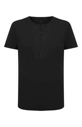 Мужская льняная футболка 120% LINO черного цвета, арт. T0M7672/E908/S00 | Фото 1