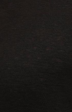 Мужская льняная футболка 120% LINO черного цвета, арт. T0M7672/E908/S00   Фото 5 (Принт: Без принта; Рукава: Короткие; Длина (для топов): Стандартные; Материал внешний: Лен; Стили: Кэжуэл)