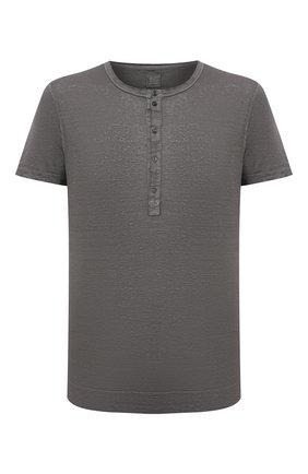 Мужская льняная футболка 120% LINO темно-серого цвета, арт. T0M7672/E908/S00 | Фото 1