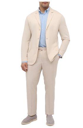 Мужская льняная рубашка SONRISA голубого цвета, арт. IL7/CD4125/47-51   Фото 2