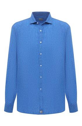 Мужская льняная рубашка SONRISA синего цвета, арт. IL7/CD4125/47-51 | Фото 1