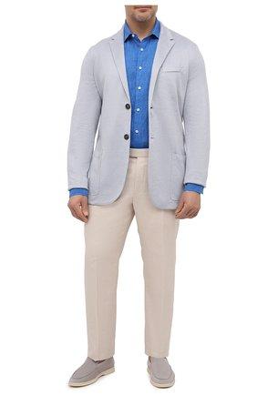 Мужская льняная рубашка SONRISA синего цвета, арт. IL7/CD4125/47-51 | Фото 2