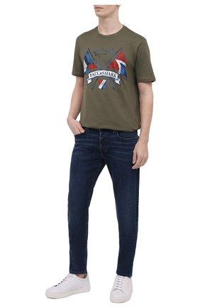 Мужские джинсы DIESEL темно-синего цвета, арт. 00SWJF/009QI | Фото 2