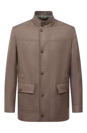 Мужская шерстяная куртка BRIONI бежевого цвета, арт. SFPF0L/P0A9Y | Фото 1