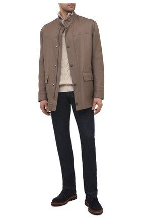 Мужская шерстяная куртка BRIONI бежевого цвета, арт. SFPF0L/P0A9Y | Фото 2