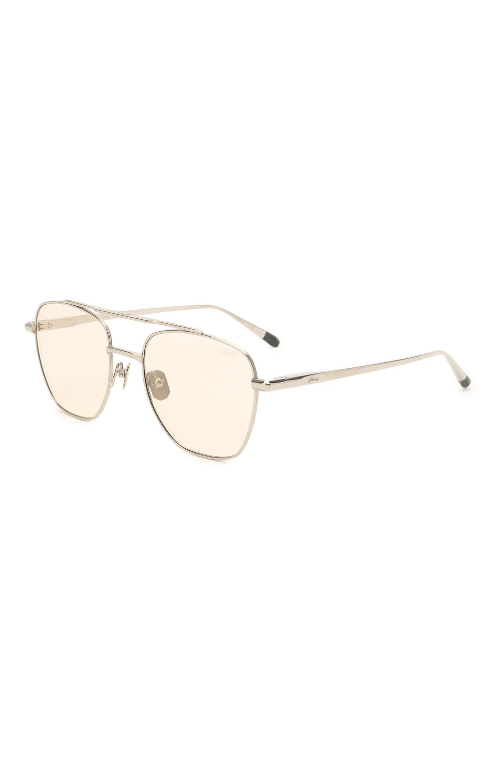 Мужские солнцезащитные очки BRIONI светло-бежевого цвета, арт. 0DE400/P3ZAF   Фото 1