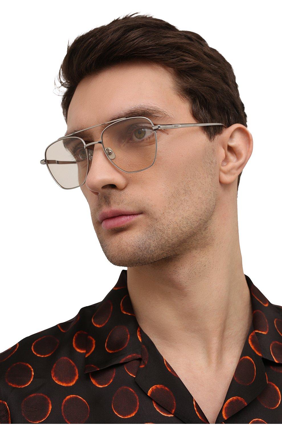 Мужские солнцезащитные очки BRIONI светло-бежевого цвета, арт. 0DE400/P3ZAF   Фото 2