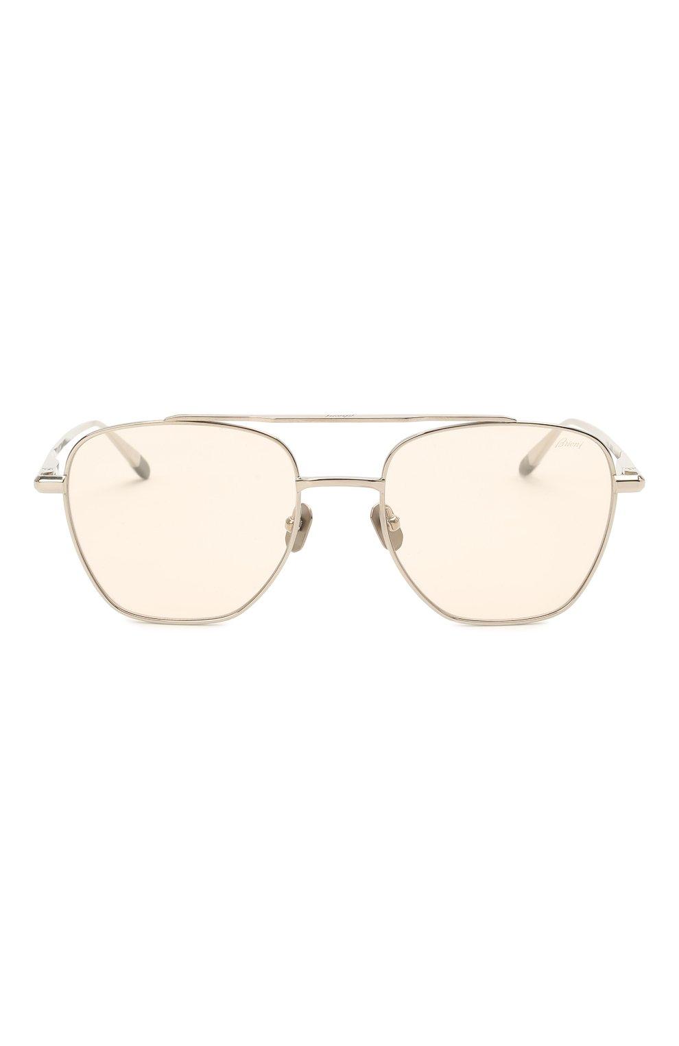 Мужские солнцезащитные очки BRIONI светло-бежевого цвета, арт. 0DE400/P3ZAF   Фото 3