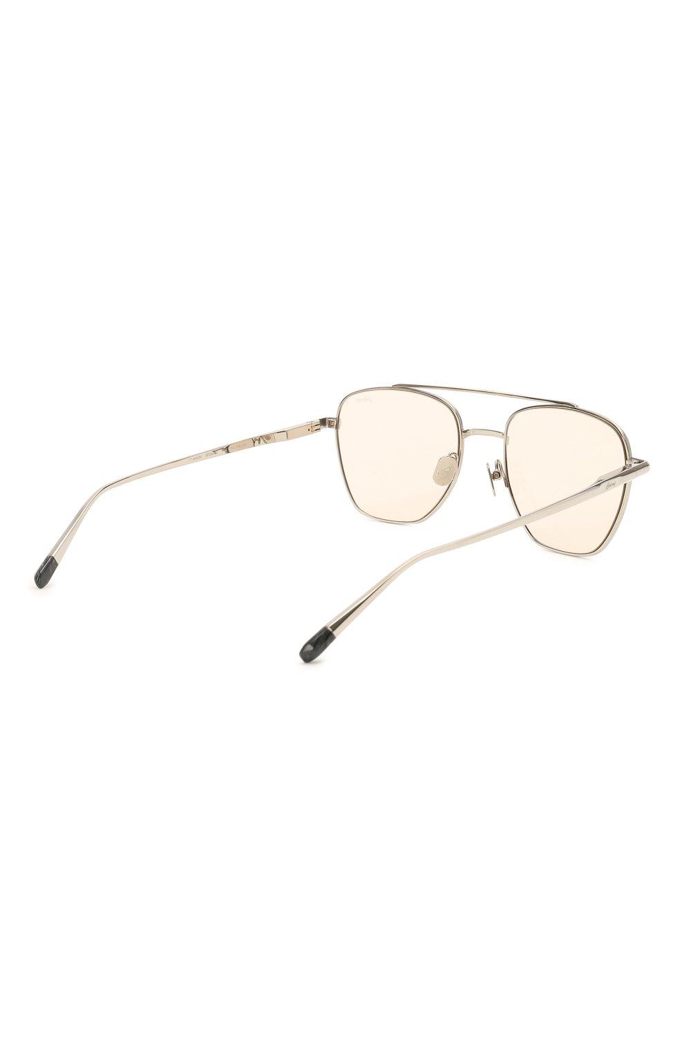 Мужские солнцезащитные очки BRIONI светло-бежевого цвета, арт. 0DE400/P3ZAF   Фото 4