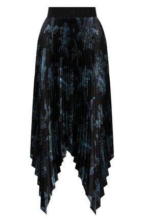 Женская юбка GIVENCHY темно-синего цвета, арт. BW40GG1Z27   Фото 1