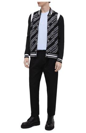 Мужской шерстяной бомбер GIVENCHY черного цвета, арт. BM00MN40BG | Фото 2 (Длина (верхняя одежда): Короткие; Материал утеплителя: Шерсть; Материал внешний: Шерсть; Рукава: Длинные; Кросс-КТ: Куртка; Принт: С принтом; Стили: Кэжуэл)