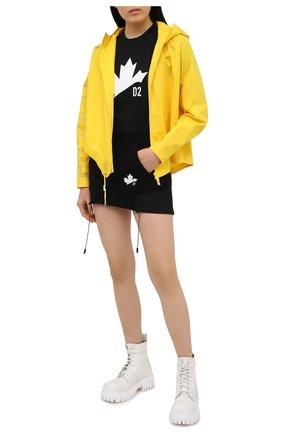 Женская хлопковая футболка DSQUARED2 черного цвета, арт. S75GD0166/S21600 | Фото 2