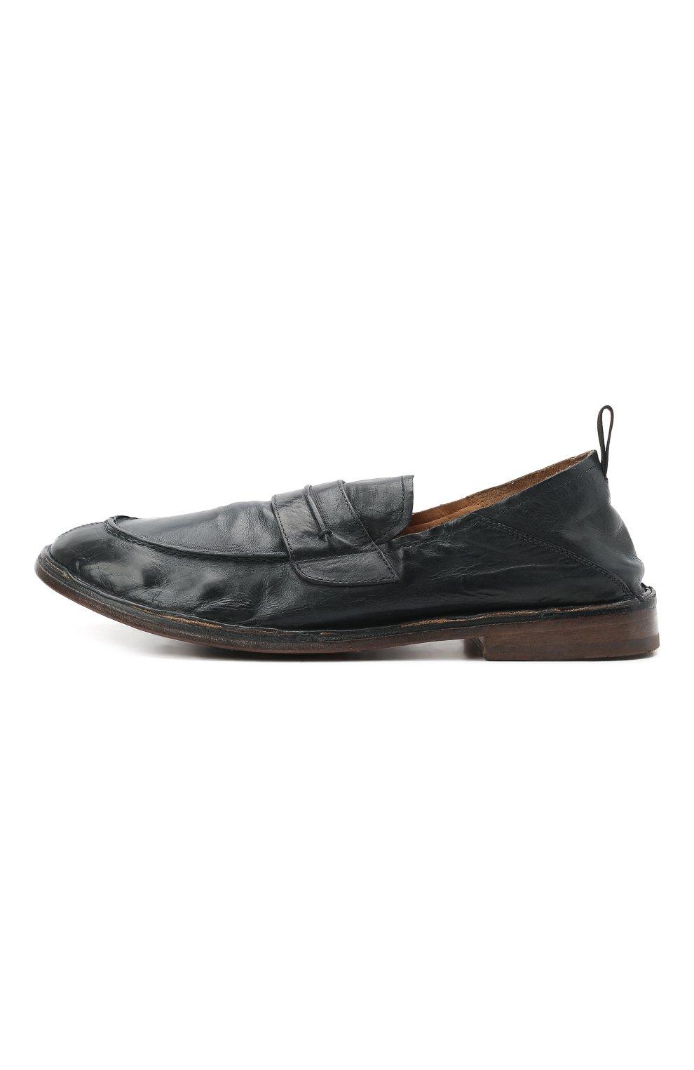 Мужские кожаные лоферы MOMA темно-синего цвета, арт. 2ES044-S0 | Фото 3 (Мужское Кросс-КТ: Лоферы-обувь; Материал внутренний: Натуральная кожа; Стили: Кэжуэл)