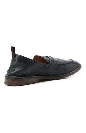 Мужские кожаные лоферы MOMA темно-синего цвета, арт. 2ES044-S0 | Фото 4 (Мужское Кросс-КТ: Лоферы-обувь; Материал внутренний: Натуральная кожа; Стили: Кэжуэл)