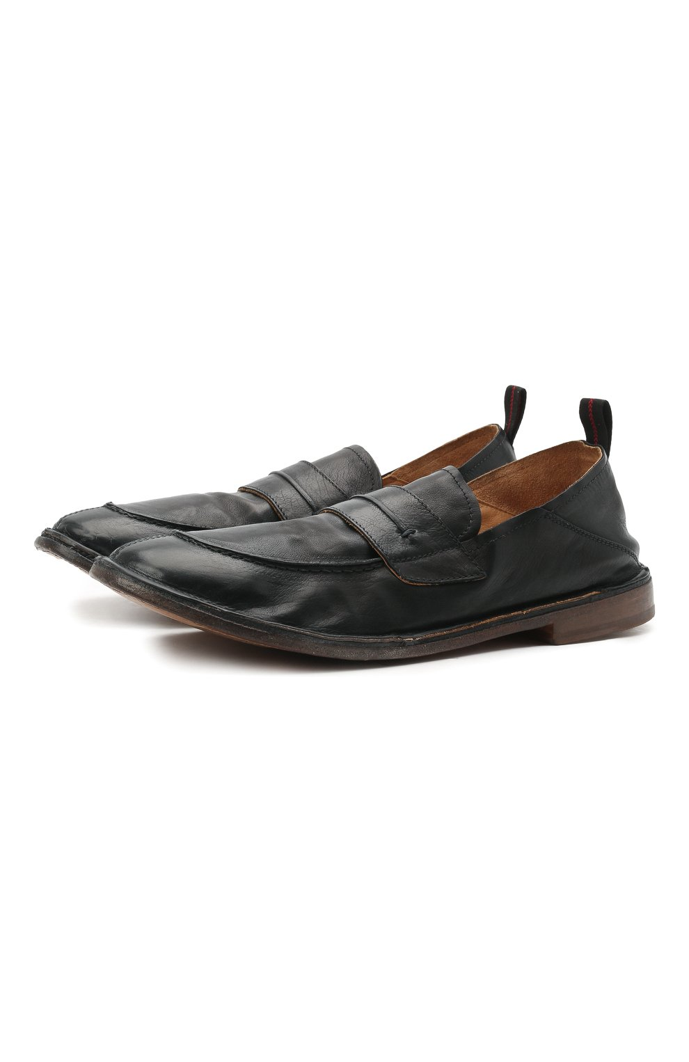 Мужские кожаные лоферы MOMA черного цвета, арт. 2ES044-S0 | Фото 1 (Мужское Кросс-КТ: Лоферы-обувь; Материал внутренний: Натуральная кожа; Стили: Кэжуэл)