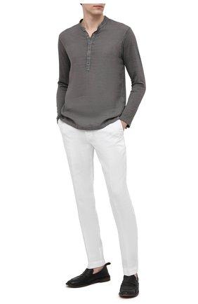 Мужские кожаные лоферы MOMA черного цвета, арт. 2ES044-S0 | Фото 2 (Мужское Кросс-КТ: Лоферы-обувь; Материал внутренний: Натуральная кожа; Стили: Кэжуэл)