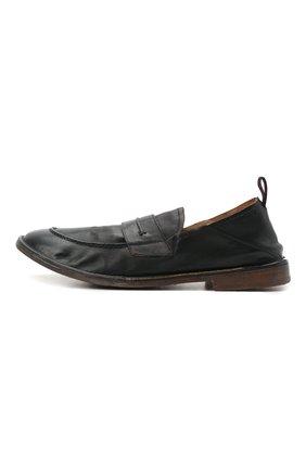 Мужские кожаные лоферы MOMA черного цвета, арт. 2ES044-S0 | Фото 3 (Мужское Кросс-КТ: Лоферы-обувь; Материал внутренний: Натуральная кожа; Стили: Кэжуэл)