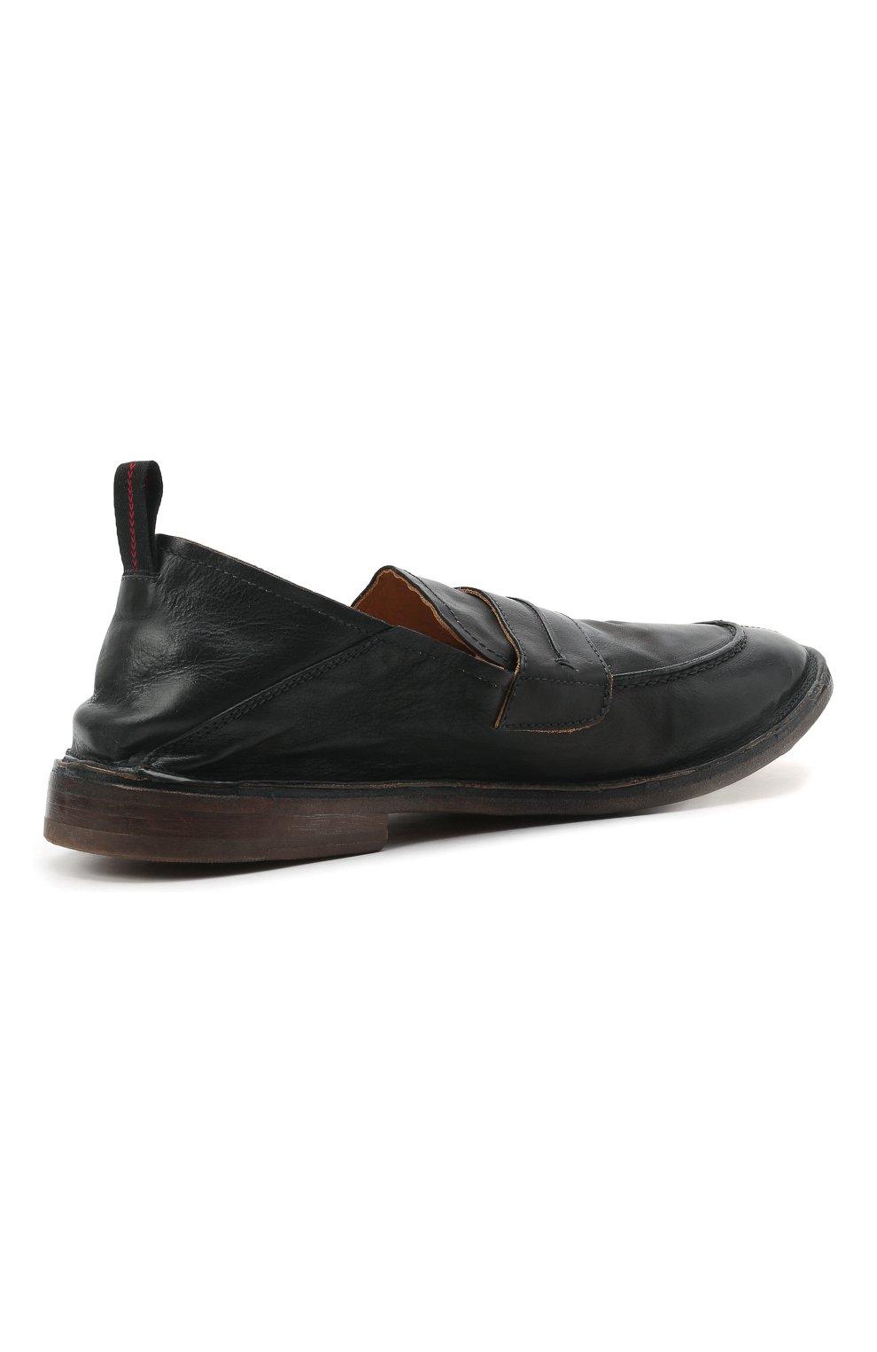 Мужские кожаные лоферы MOMA черного цвета, арт. 2ES044-S0 | Фото 4 (Мужское Кросс-КТ: Лоферы-обувь; Материал внутренний: Натуральная кожа; Стили: Кэжуэл)