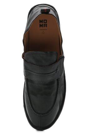 Мужские кожаные лоферы MOMA черного цвета, арт. 2ES044-S0 | Фото 5 (Мужское Кросс-КТ: Лоферы-обувь; Материал внутренний: Натуральная кожа; Стили: Кэжуэл)