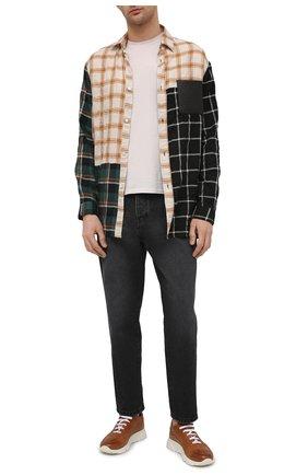 Мужские кожаные кроссовки MOMA коричневого цвета, арт. 4AS018-S0 | Фото 2